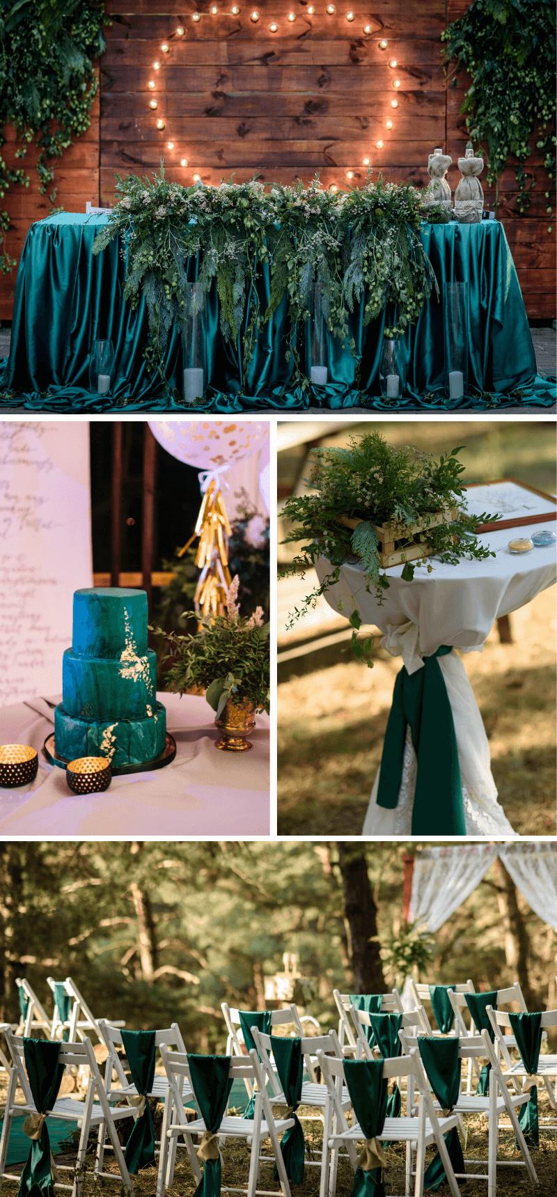 Hochzeit in Smaragdgrün
