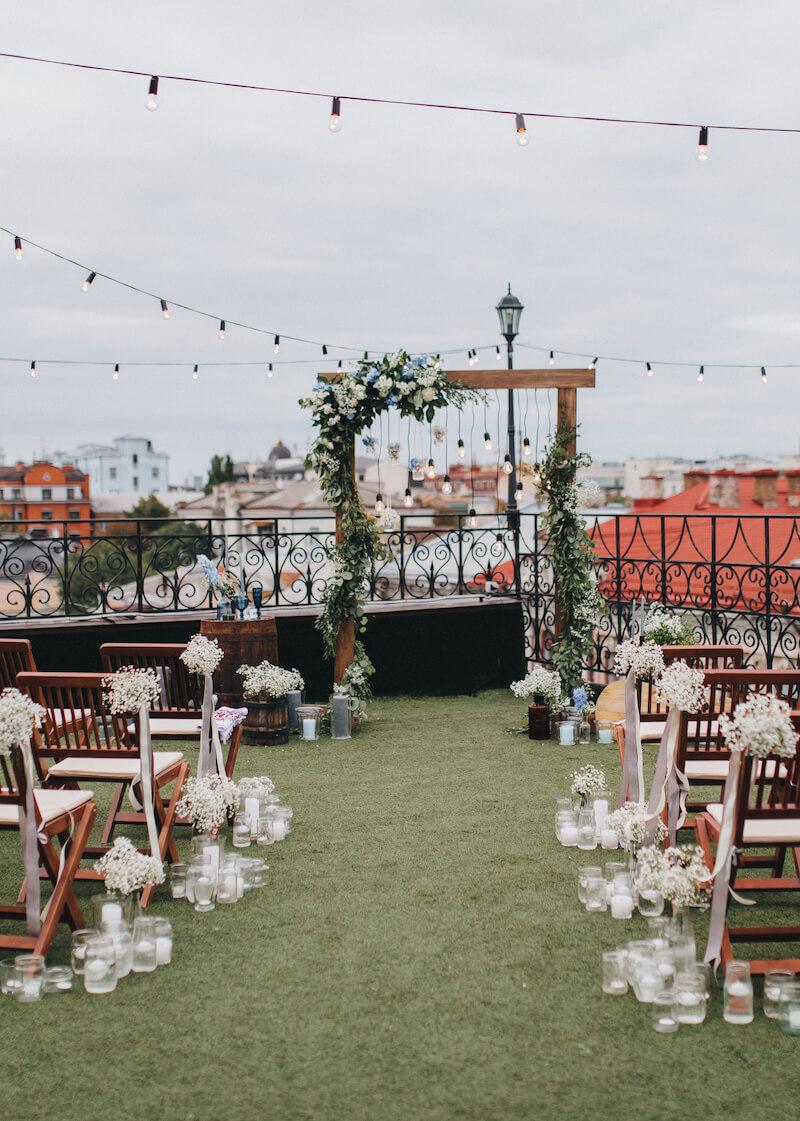 Hochzeit im Freien Deko