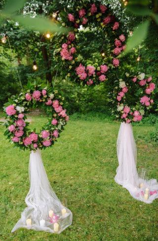 Hochzeitsbogen Alternative, Wedding Hoops, Blumenkranz Deko Hochzeit