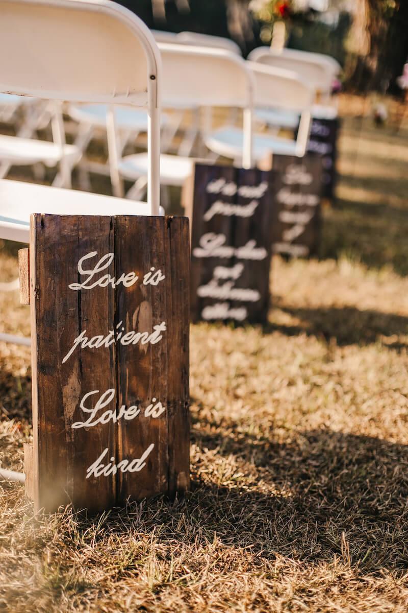 Hochzeitsschilder Ideen Trauung