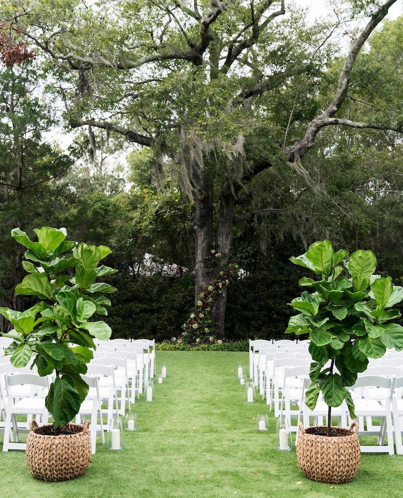 Trauung im Freien, Hochzeitsdeko originell