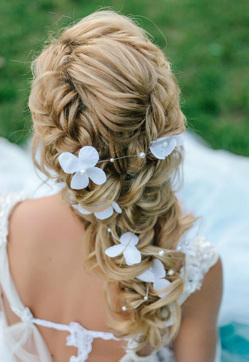 Mermaid Braid mit Seidenblumen