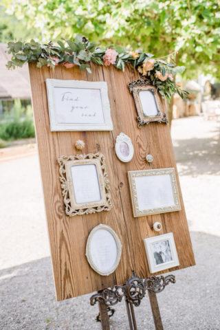 Hochzeit Sitzplan mit Bilderrahmen