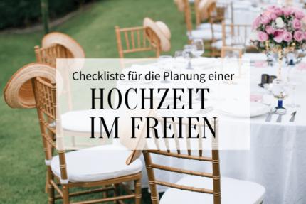 Checkliste Hochzeit im Freien