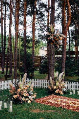 Boho Hochzeitsbogen