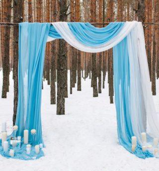 Hochzeit im Winter Bogen
