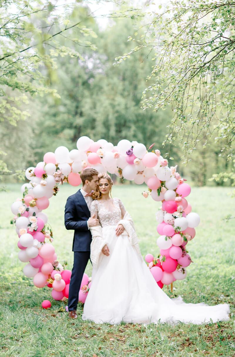 Ballon Hochzeitsbogen