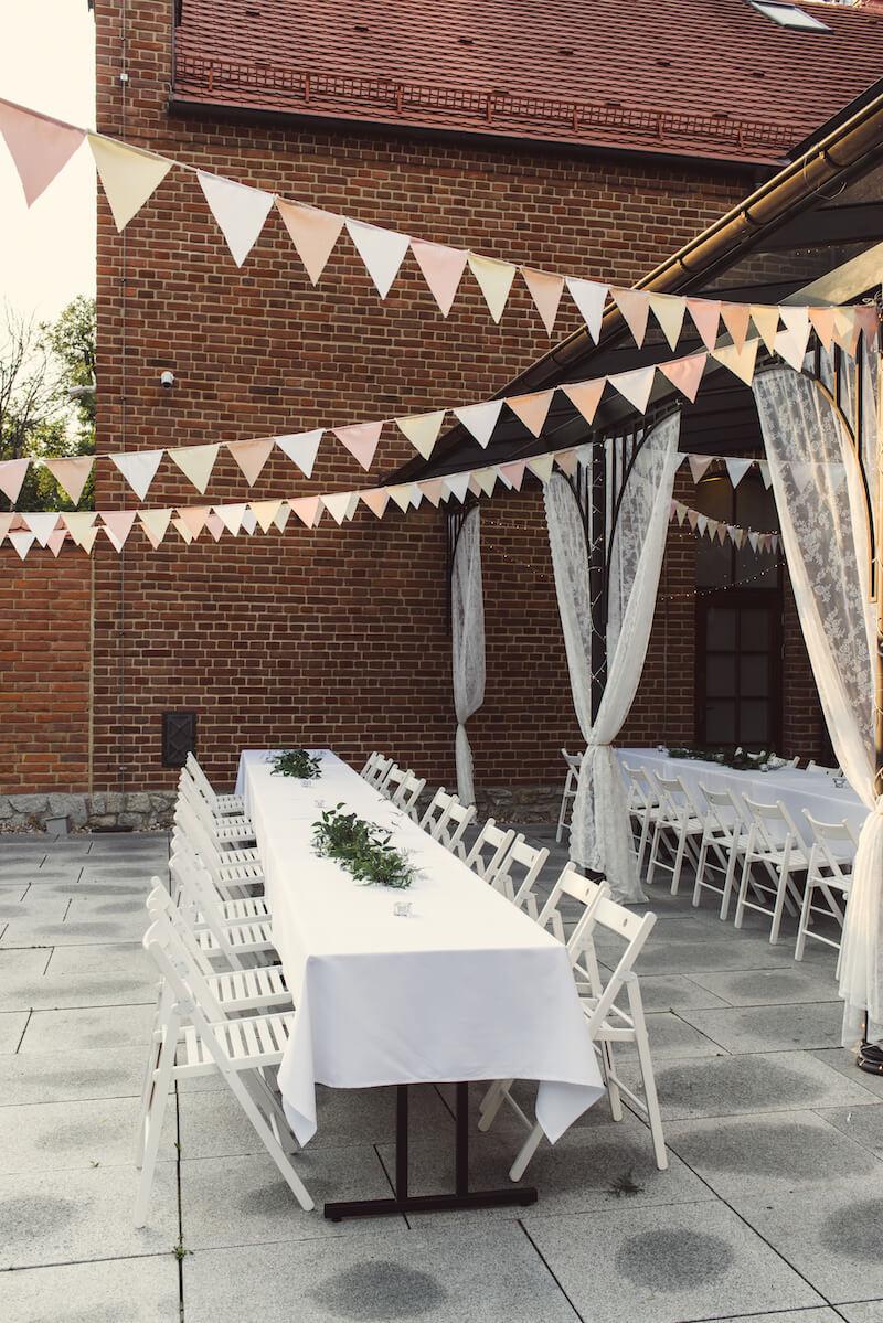 Hochzeit Deko Girlanden