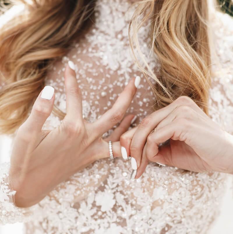 Brautnägel weiß