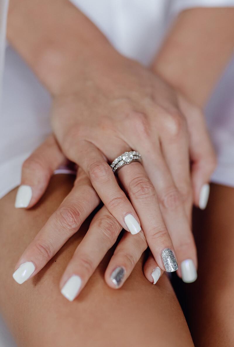 Brautnägel mit Silber