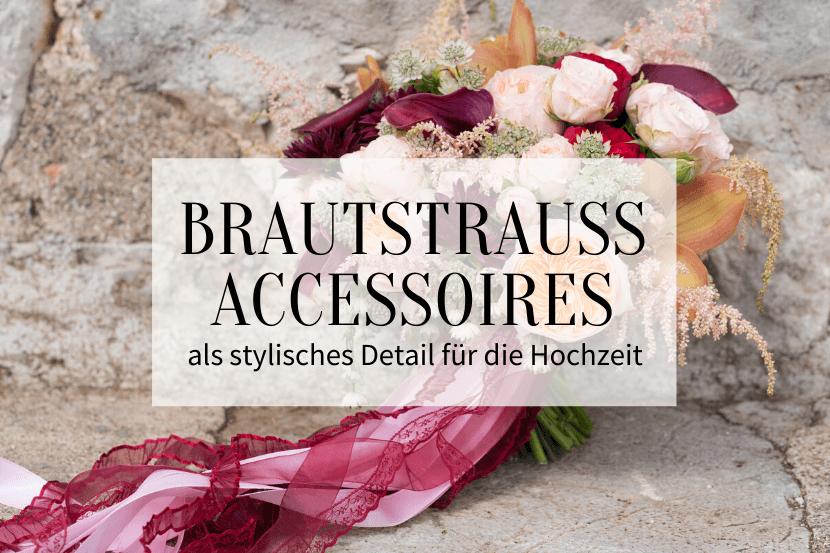 Brautstrauß Accessoires, Brautstrauß Stiel Deko
