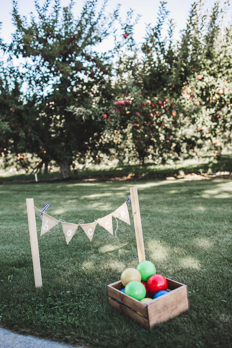 Hochzeit Rasenspiele, Boccia