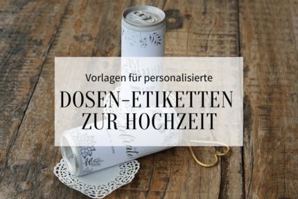 Dosen Etiketten für die Hochzeit Vorlagen