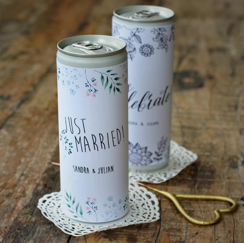Hochzeit Dosen Etiketten