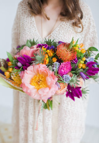 Knalliger Brautstrauß