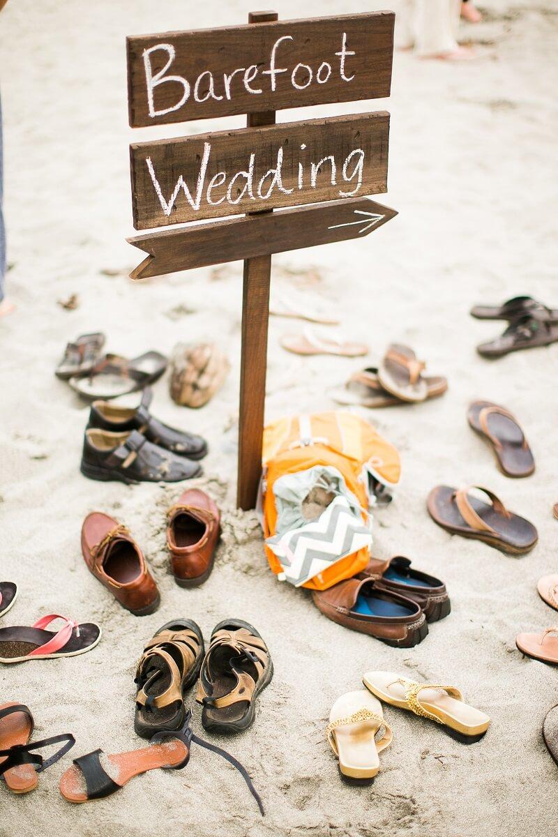 Barfuß Hochzeit