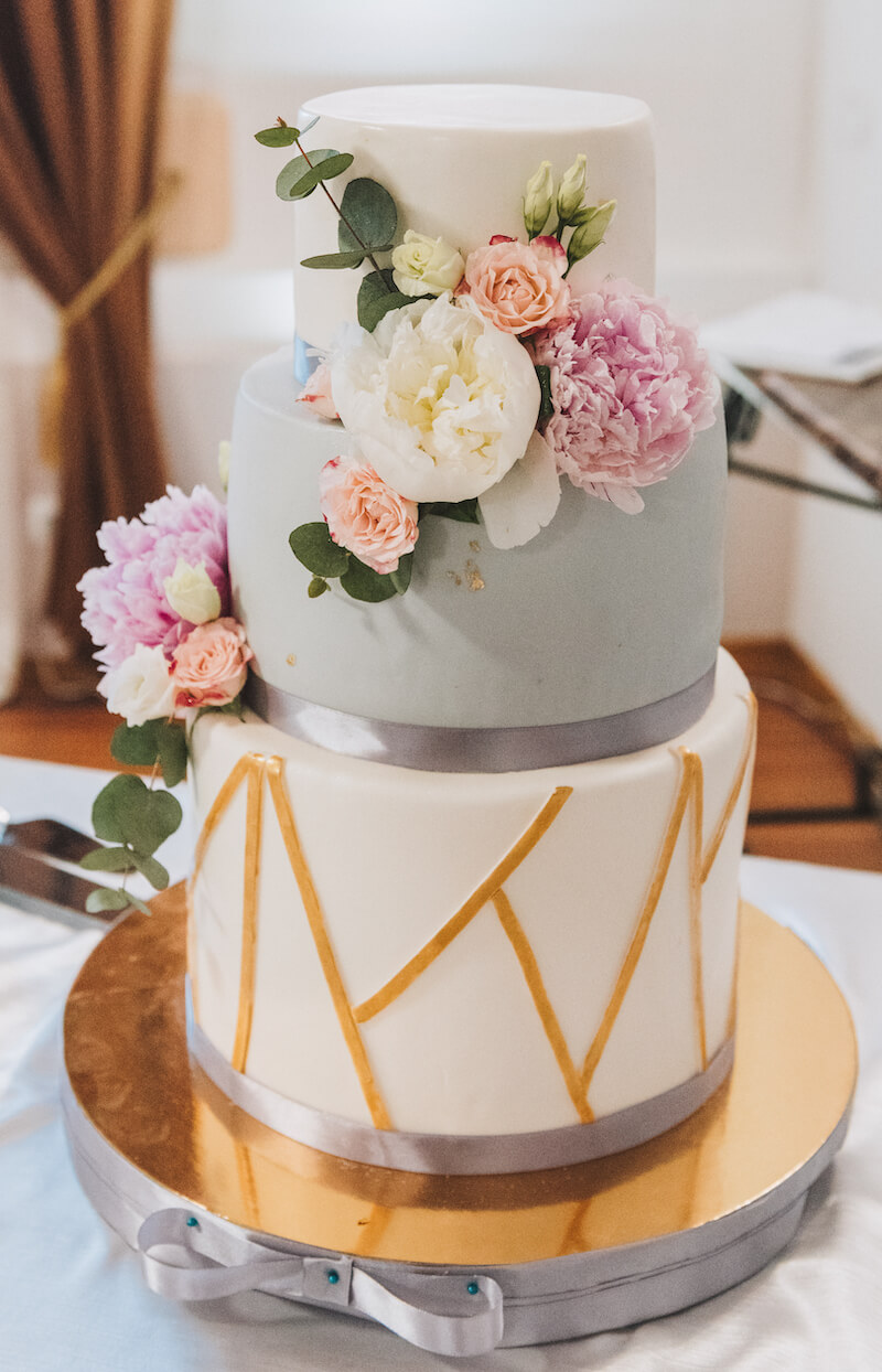 Hochzeitstorte geometrisch