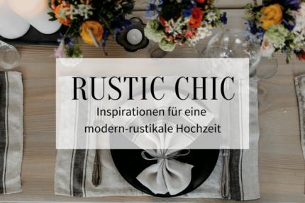 modern rustikale Hochzeit