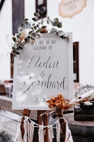 Hochzeitsschild Boho