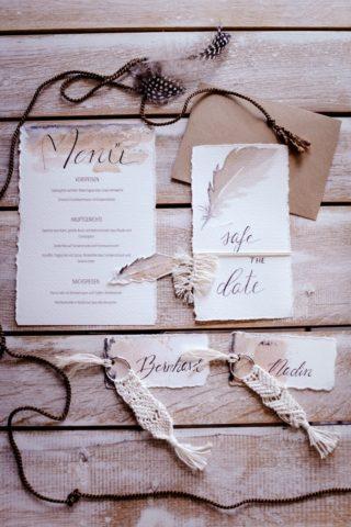 Boho Hochzeitspapeterie