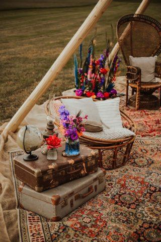 Rustikale Hochzeitsdeko aus Humble Materials