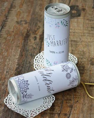 Dosen Etiketten Hochzeit