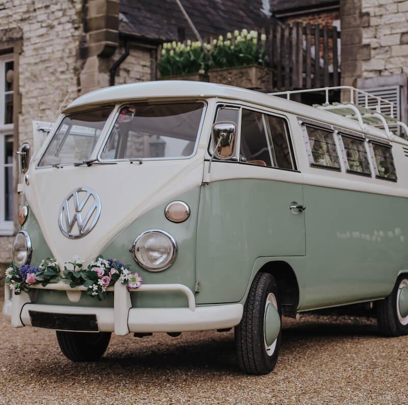 Hochzeit VW Bus Deko
