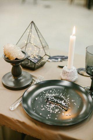 Tischdeko minimalistisch