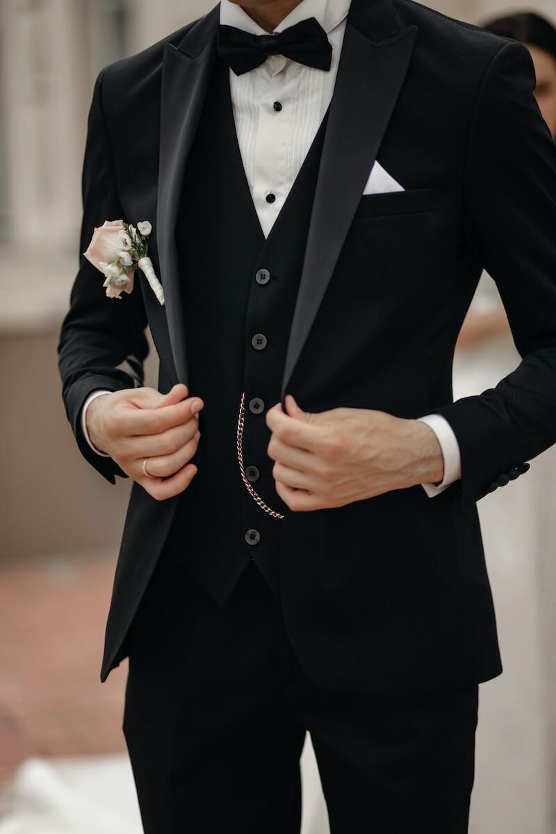 Bräutigam Anzug in Schwarz