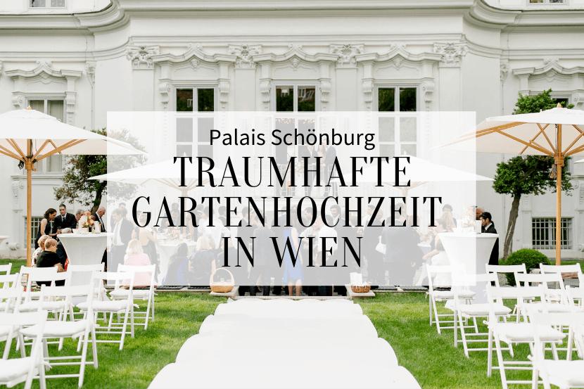 Gartenhochzeit in Wien, Palais Schönburg
