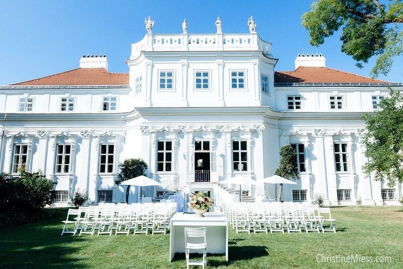 Gartenhochzeit Wien, Hochzeit im Freien, Palais Schönburg