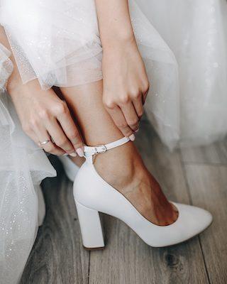 Stylische Brautschuhe