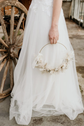 Reifen Brautstrauß in Weiß