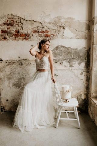 Brautkleid Zweiteiler