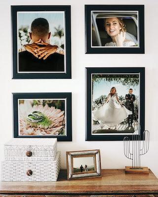 Hochzeits-Bilderwand gestalten