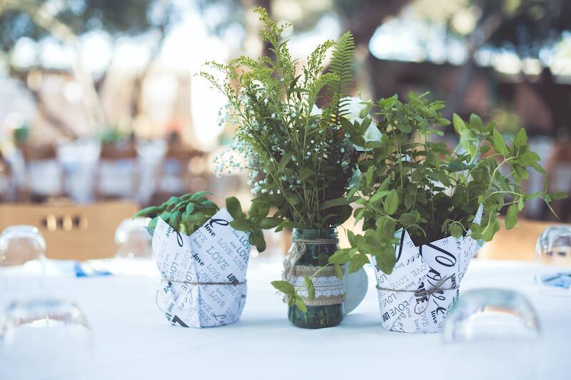 DIY Hochzeit Tischdeko