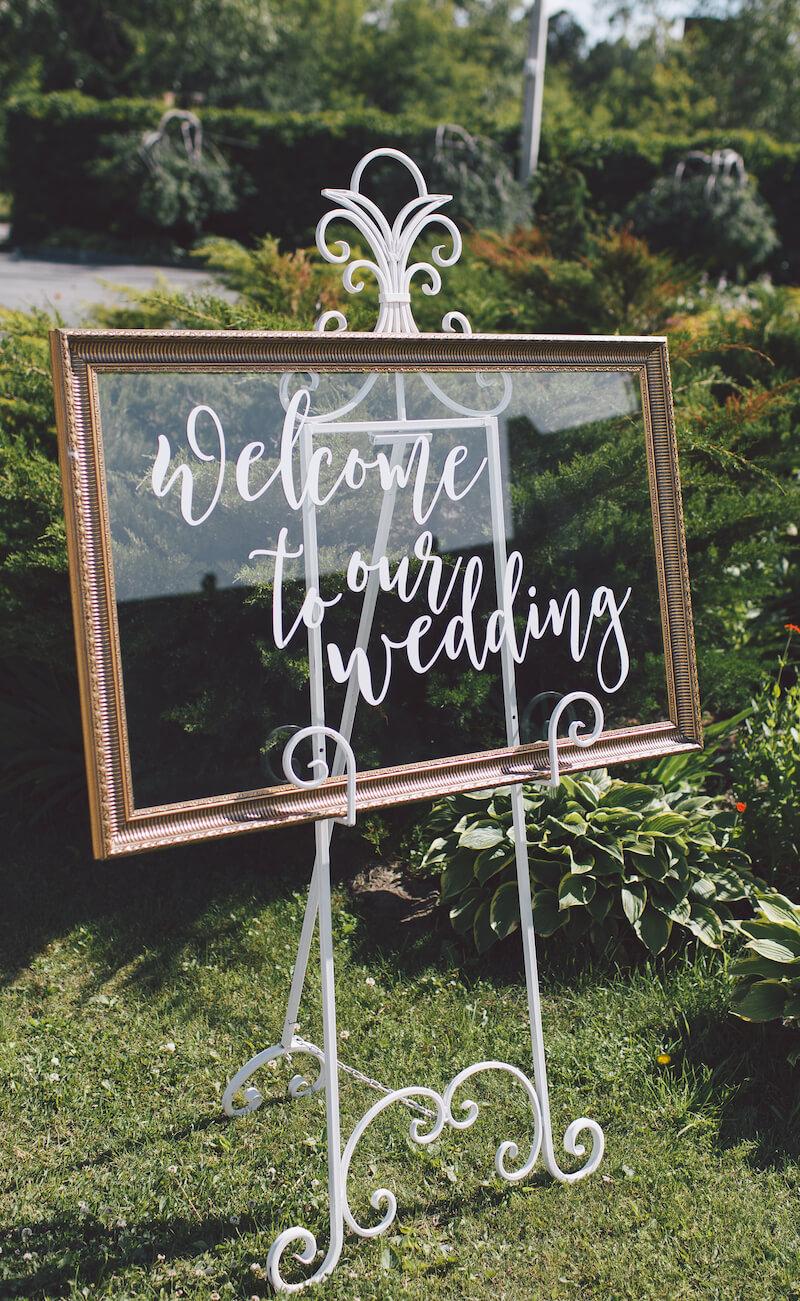 DIY Hochzeit Schilder