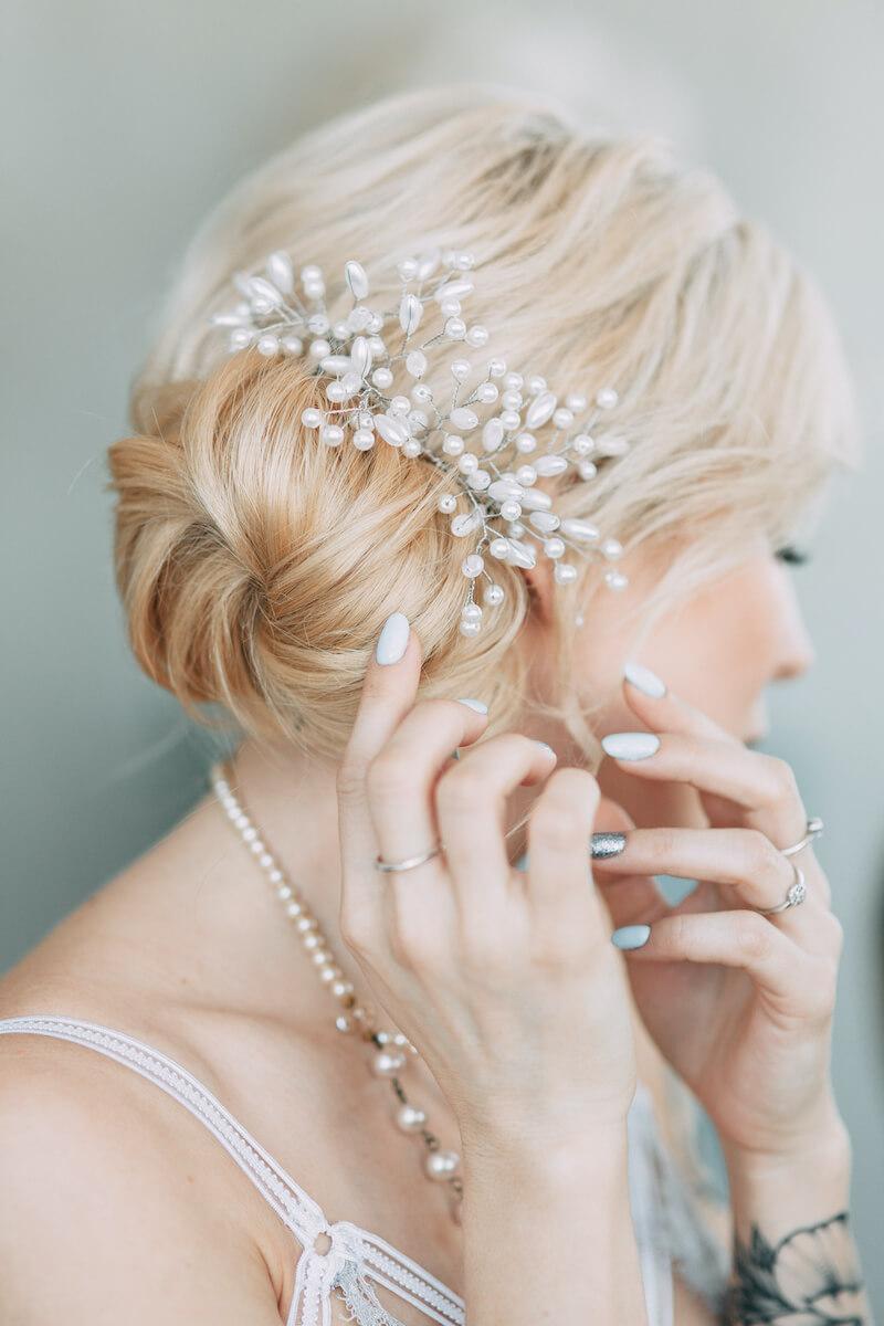 Brautfrisur hochgesteckt, Braut Dutt