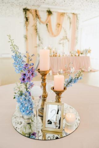 elegante Hochzeitsdeko Centerpiec