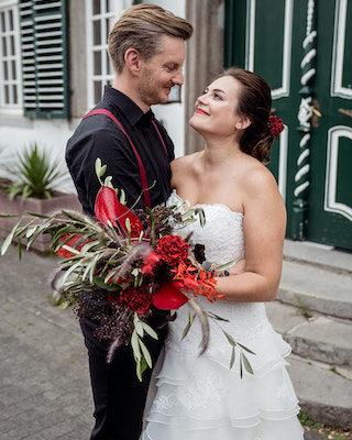 Flamenco Hochzeit in Rot