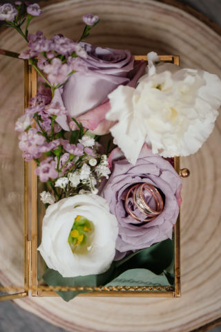 Ringbox mit Blumen, Ringkissen Alternative