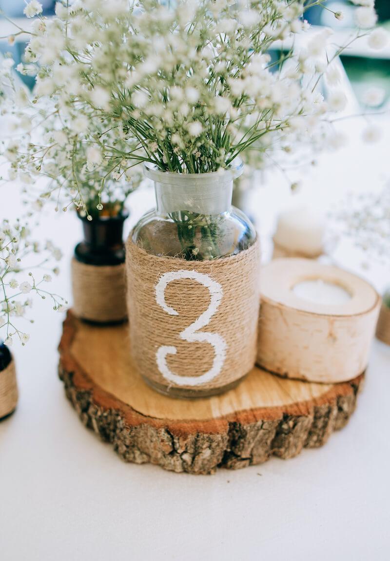 Tischnummer rustikal