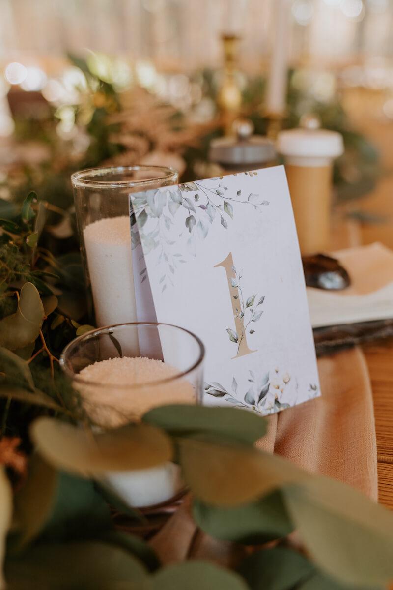 Hochzeit Tischnummer Aufstellen