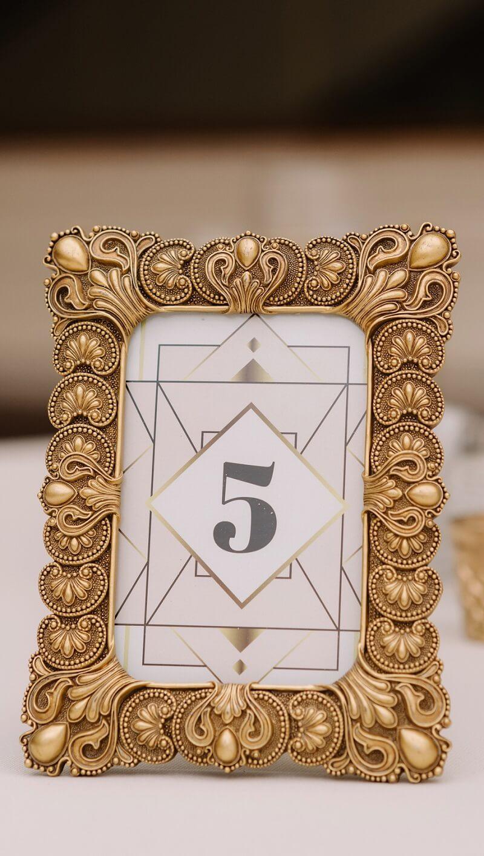 Tischnummer Gatsby Hochzeit
