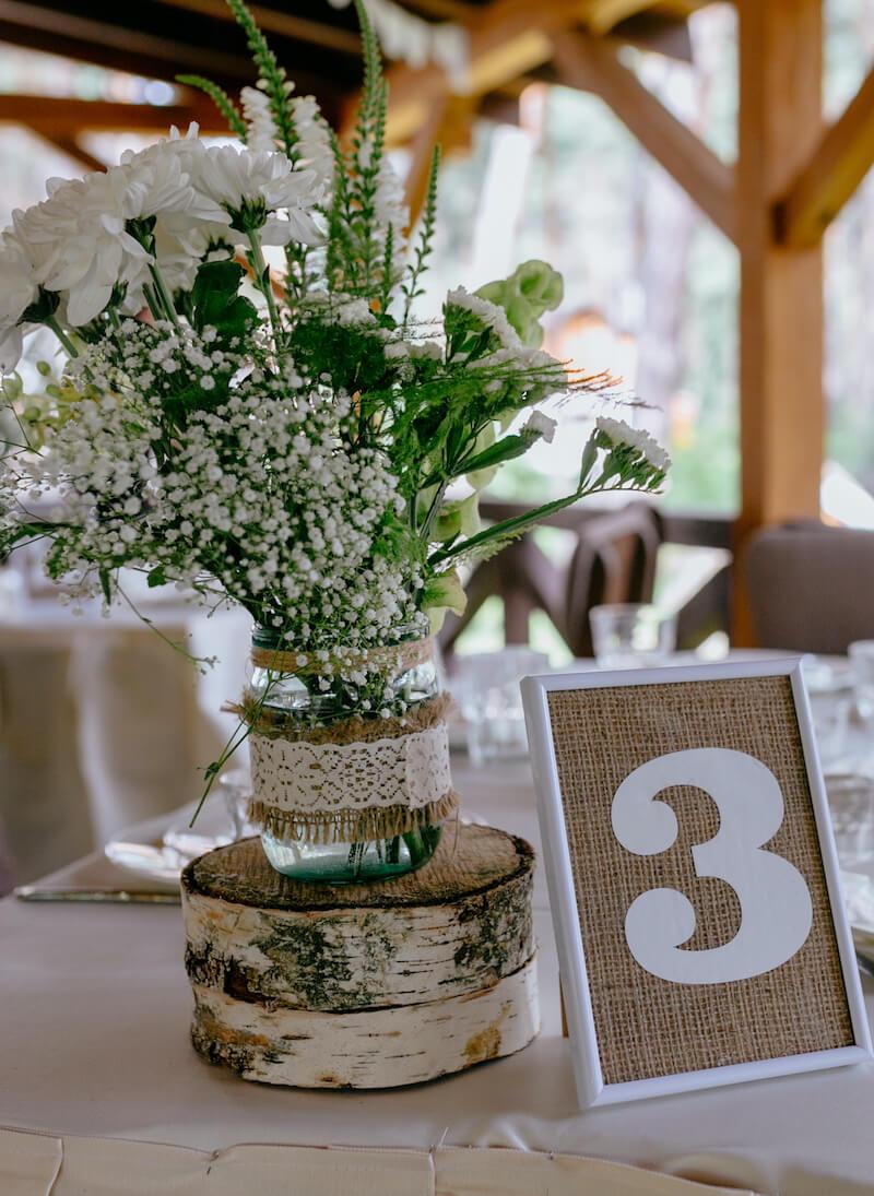 Tischnummer Vintagehochzeit