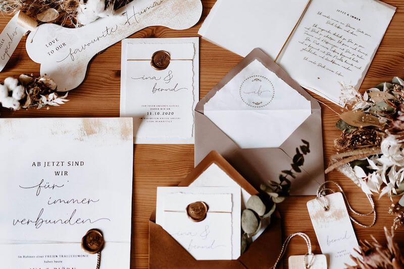 Boho Hochzeitskarten