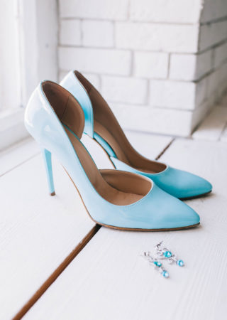 Brautschuhe hellblau