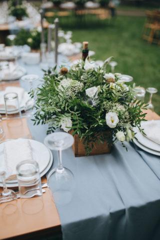 Hochzeit Tischdeko grün