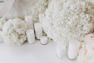 Hochzeitsdeko in Weiß