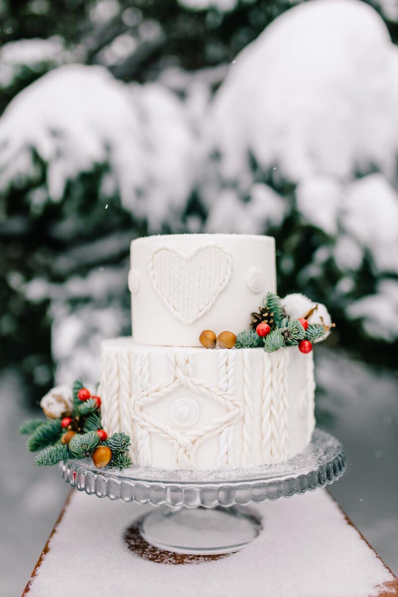 Plaid Hochzeitstorte